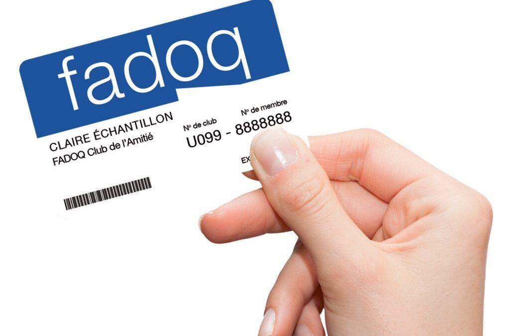 Rabais de 5% aux membres de la FADOQ