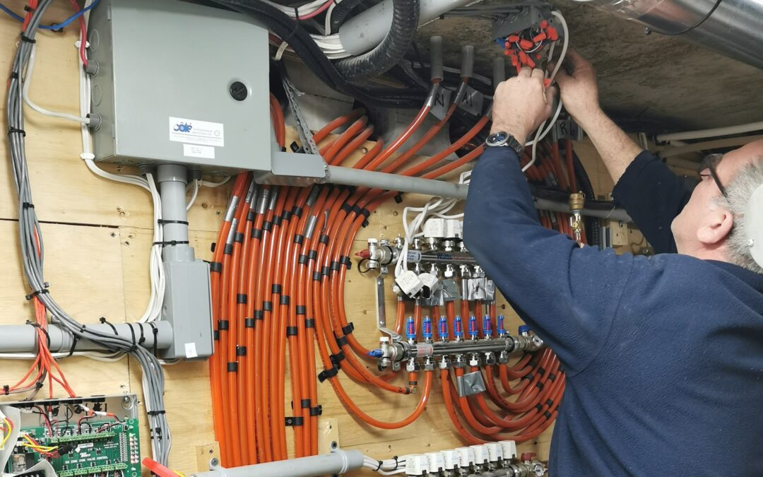 Vente, Installation, réparation, planchers radiants glycol