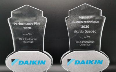 Distinctions Daikin pour SGL Climatisation Chauffage